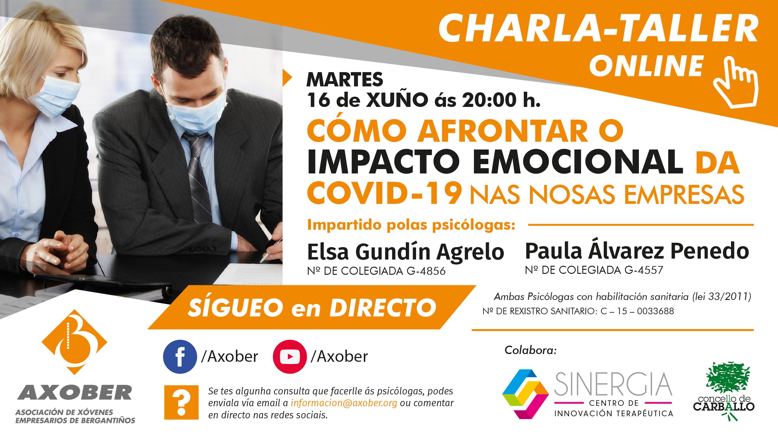 Charla-Taller: Cómo afrontar o Impacto Emocional da COVID-19 nas nosas empresas