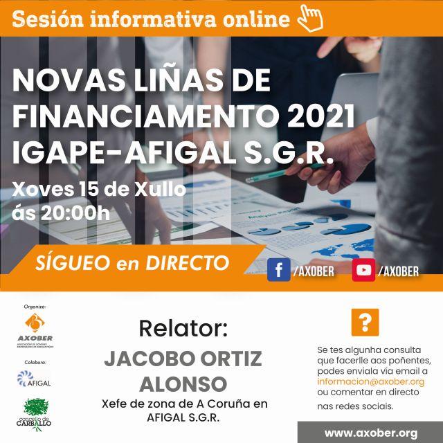 AXOBER INFORMA A EMPRESARIOS DAS LIÑAS DE FINACIAMENTO 2021 IGAPE-AFIGAL S.G.R.